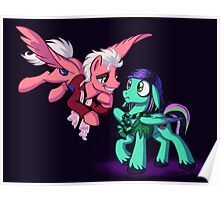 Mad T Ponies - Mally and Thackery Poster
