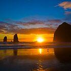 Cannon Beach Sunset by RavenFalls