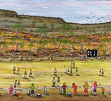 "Aussie Rules ""Football in the Bush"" Original Sold by EJCairns"