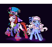 Mad T Ponies - Alice and Tarrant Photographic Print