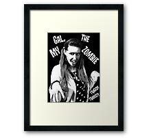 My Gal, the Zombie- Horror Host Punk Framed Print