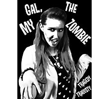 My Gal, the Zombie- Horror Host Punk Photographic Print