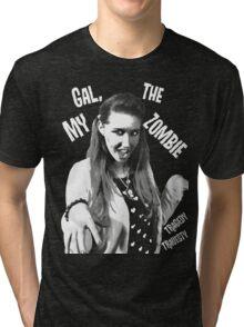 My Gal, the Zombie- Horror Host Punk Tri-blend T-Shirt