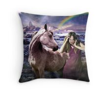 me and my unicorn Throw Pillow