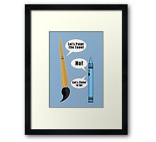 Lets Paint The Town! - Blue Framed Print