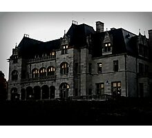 Salve Regina Administration Bldg from the Cliff Walk Photographic Print