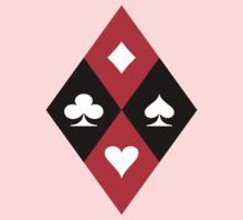 Hearts Clubs Diamonds Spades Kids Tee