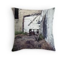 where they worked Throw Pillow