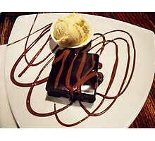 chocolate brownie and ice-cream! Photographic Print