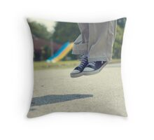 Now My Feet Won't Touch the Ground Throw Pillow
