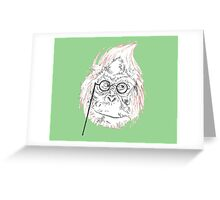 Insane Orangutan  Greeting Card
