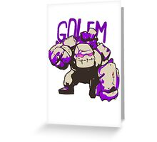 Golem Greeting Card