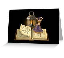 Pages turn .. the gypsy witch Greeting Card