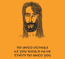 JESUS Teachings - DO unto others - BLACK ink. by ArtProphet