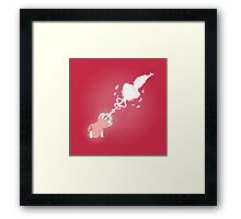 Rose Cannon Framed Print