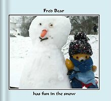 Fred Bear Book Has Fun in the Snow by missmoneypenny