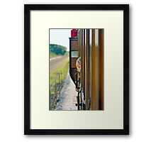 Train child portrait Framed Print