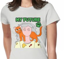 Future Mad Cat Lady Womens Fitted T-Shirt