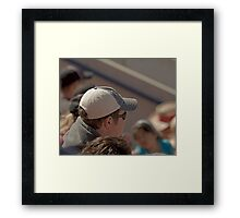Hat Series - Guy with a Grey Baseball Cap Framed Print