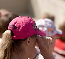 Hat Series - Woman in Hot Pink Cap by Buckwhite