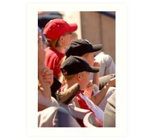 Hat Series - Two Young Boys Wearing Baseball Caps Art Print