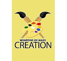 Weapons of mass creation - Yellow Photographic Print