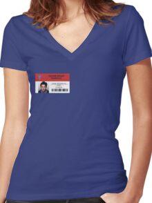 John Dorian - Scrubs MD Women's Fitted V-Neck T-Shirt