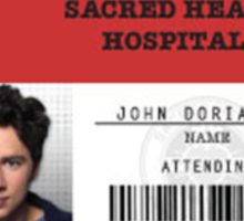 John Dorian - Scrubs MD Sticker