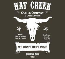 Hat Creek Cattle Company Logo - Lonesome Dove, Texas by Groatsworth