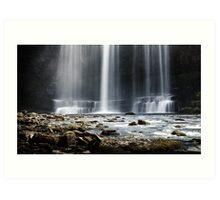 Sgwd yr Eira waterfalls Art Print