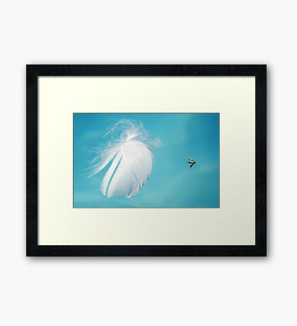 Flying Past Framed Print