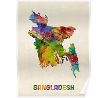 Bangladesh Watercolor Map Poster