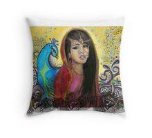 Peacock & Paisley        Throw Pillow