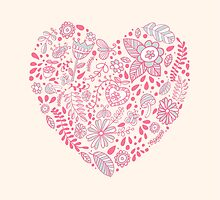 Heart shaped love vector cute pattern by julkapulka