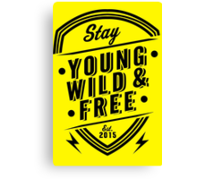 Young Wild Free Canvas Print