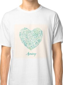 Heart shaped spring love vector cute pattern Classic T-Shirt