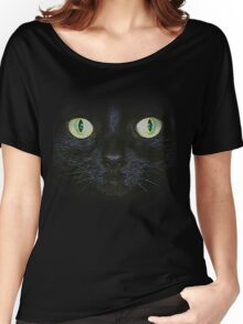 Cat Face T-Shirt Women's Relaxed Fit T-Shirt