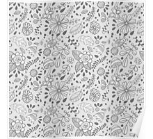 Cute floral seamless vector pattern Poster