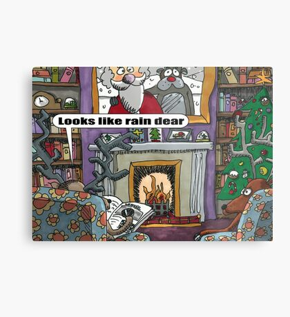 Looks Like Rain Dear Metal Print