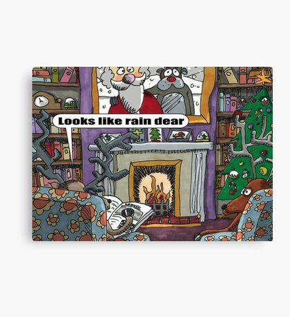 Looks Like Rain Dear Canvas Print