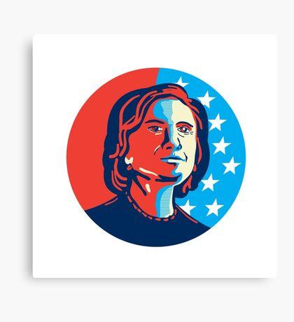 Hillary Clinton American Elections Canvas Print
