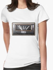 Almost Empty Caddilac fuel gauge Womens Fitted T-Shirt