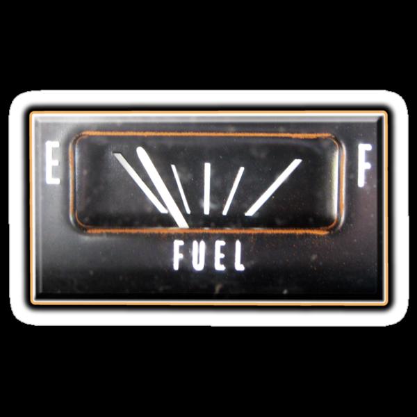 Almost Empty Caddilac fuel gauge by dustyvinylstore