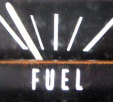 Big Black Kaddilac with Almost Empty Fuel Gauge Sticker