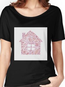 House shaped vector pattern Women's Relaxed Fit T-Shirt