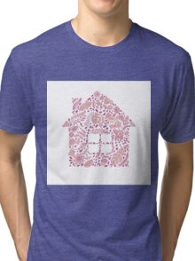 House shaped vector pattern Tri-blend T-Shirt