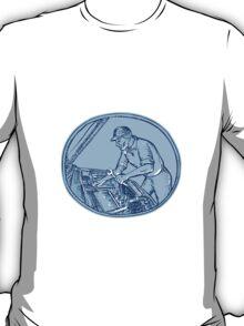 Auto Mechanic Automobile Car Repair Etching T-Shirt