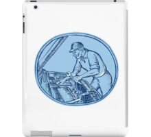 Auto Mechanic Automobile Car Repair Etching iPad Case/Skin