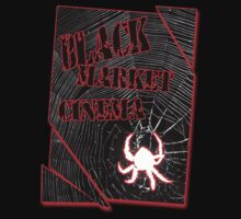 Black Market Cinema Spider logo t-shirt by dustyvinylstore