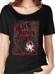 Black Market Cinema Spider logo t-shirt Women's Relaxed Fit T-Shirt